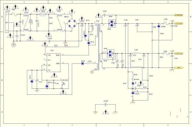 Схема монитора al1716